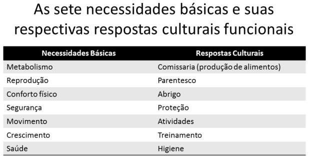 necessidades e cultura