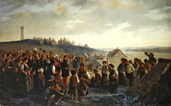 Napoleon III at Angers. Alexandre Antigna